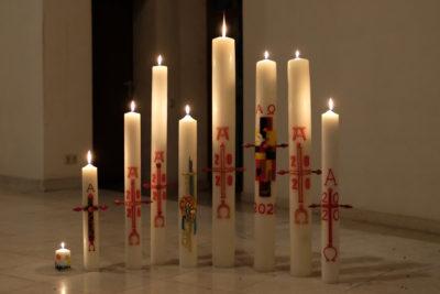 Osterkerzen der gesamten Pfarrei