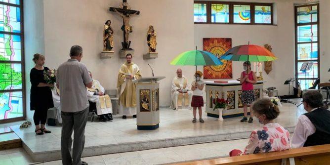 Nachprimiz M. Kreher und Verabschiedung Fr. George Pfarrei St. Benno 1